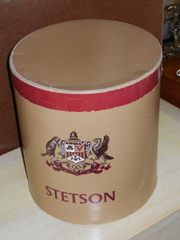 17522582bb4e0c VINTAGE STETSON MENS TALL HAT BOX | Vintage Hatboxes | Vintage hat ...