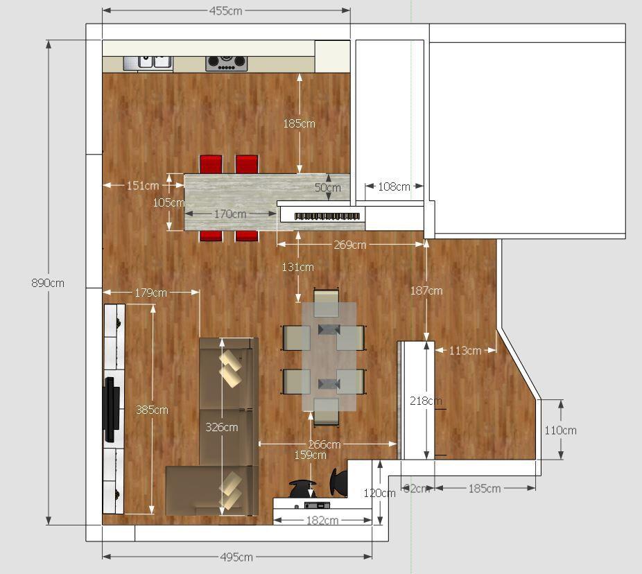 Living Cucina Ingresso E Studio In 50 Mq Open Space Case