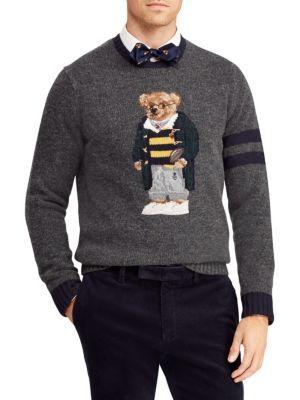 9cfc1fd9543 POLO RALPH LAUREN Polo University Bear Wool   Cashmere Sweater.   poloralphlauren  cloth