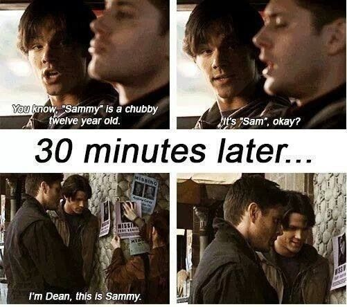 Lol haha funny pics / pictures / Supernatural / Sam / Dean ... Supernatural Sam And Dean Funny Moments