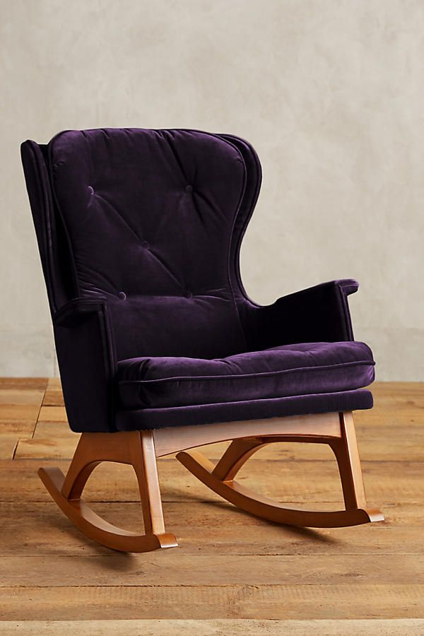 Best Velvet Finn Rocker Chic Office Chair Rocking Chair 400 x 300