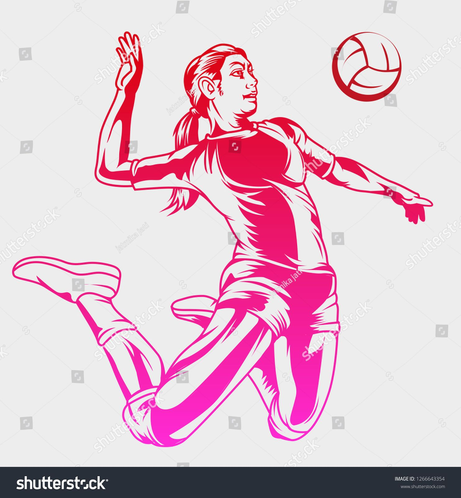 Vector Illustration Female Volleyball Player Sponsored Ad Illustration Vector Female Player In 2020 Bride Look Beautiful Bride Wordpress Theme Design