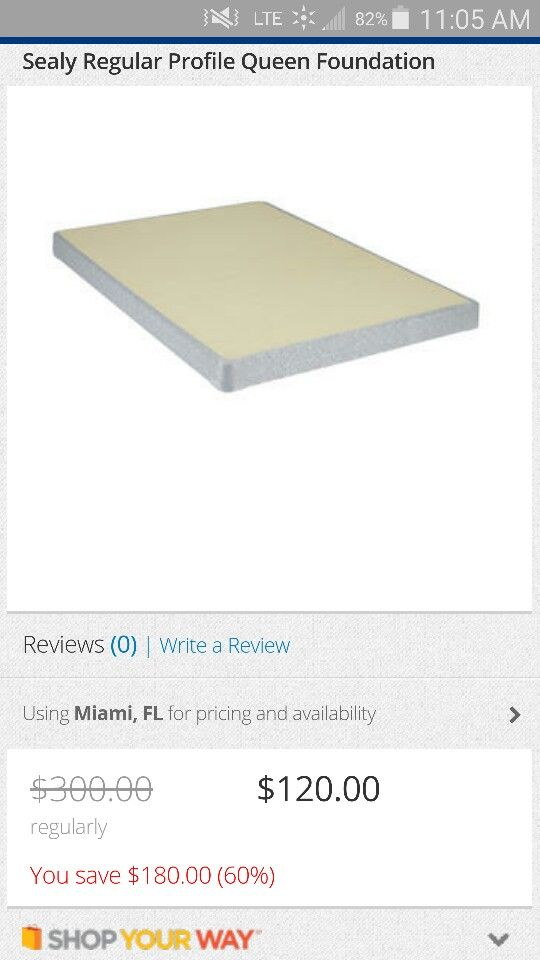 Sealy Queen Sized Box Spring From Sears My Wish List Pinterest