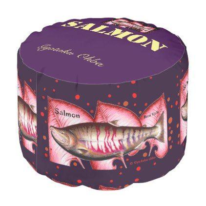 Salmon! salmon pouf - home gifts cool custom diy cyo