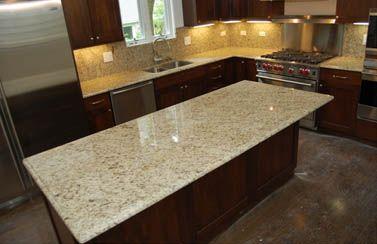 Mahogany Cabinets And Giallo Ornamental Granite Kitchen