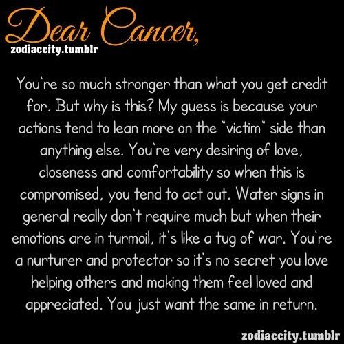 cancer zodiac...seems fitting...