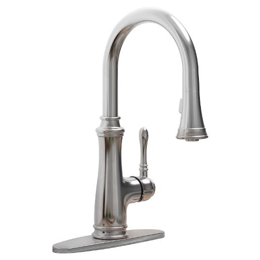 Wolverine Brass 81501 Timeless Single Handle Kitchen Faucet Pull Down Spray Chrome In 2020 Single Handle Kitchen Faucet Kitchen Faucet Kitchen Handles