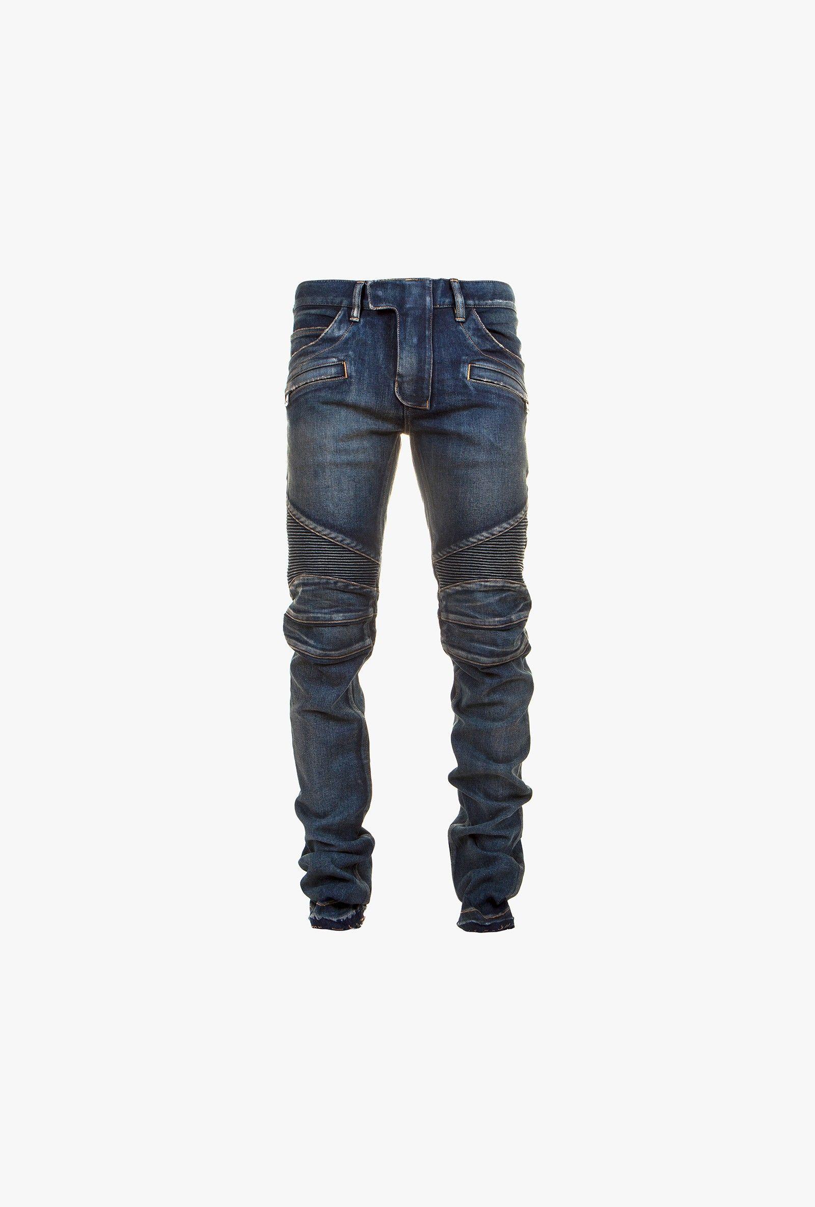 aea32588 Balmain - Regular-fit stretch cotton denim biker jeans - Mens biker jeans