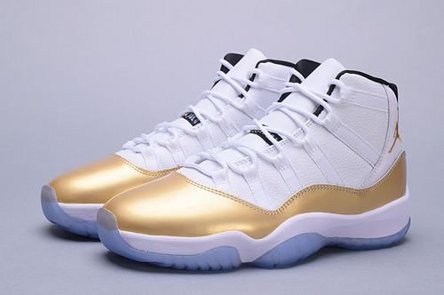 "Jordan Brand will launch a number of Air Jordan retro outline, to commemorate the 2016 Olympic Games, including the upcoming Air Jordan11 high ""white / gold"" color. Iconic air Jordan11 this new version will be similar to help low - Chris Paul Player Exclusive release - are shown below. With black patent leather detail and gold metal cover all white leather upper sitting above the outsole crystal clear. http://www.ordercheapjordans11.com/"