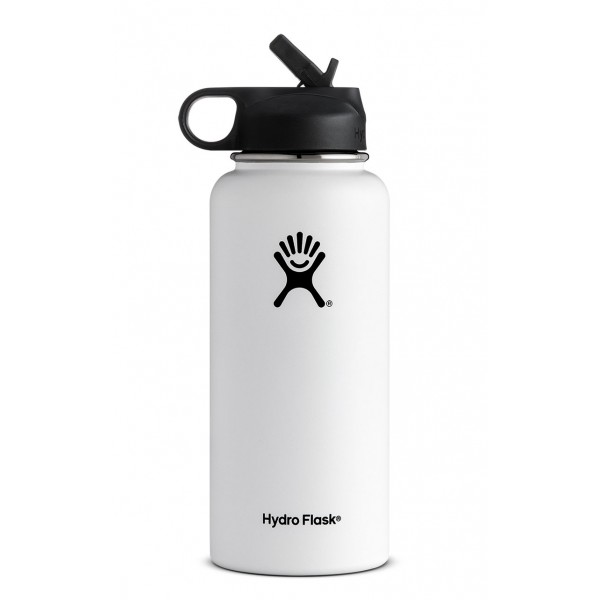 32 Oz Wide Mouth W Straw Lid Hydro Flask Water Bottle Wide Mouth Water Bottle Hydro Flask Bottle