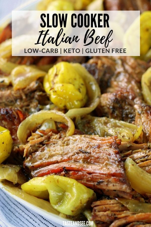 Photo of Low Carb Slow Cooker Italian Beef