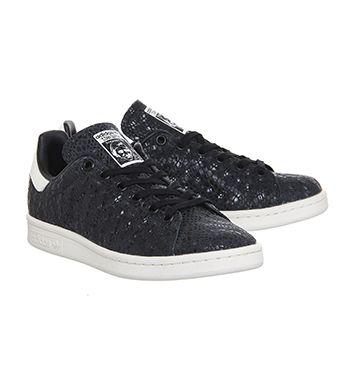 58153796cac939 Adidas Stan Smith Snake Core Black Chalk White - Unisex Sports ...