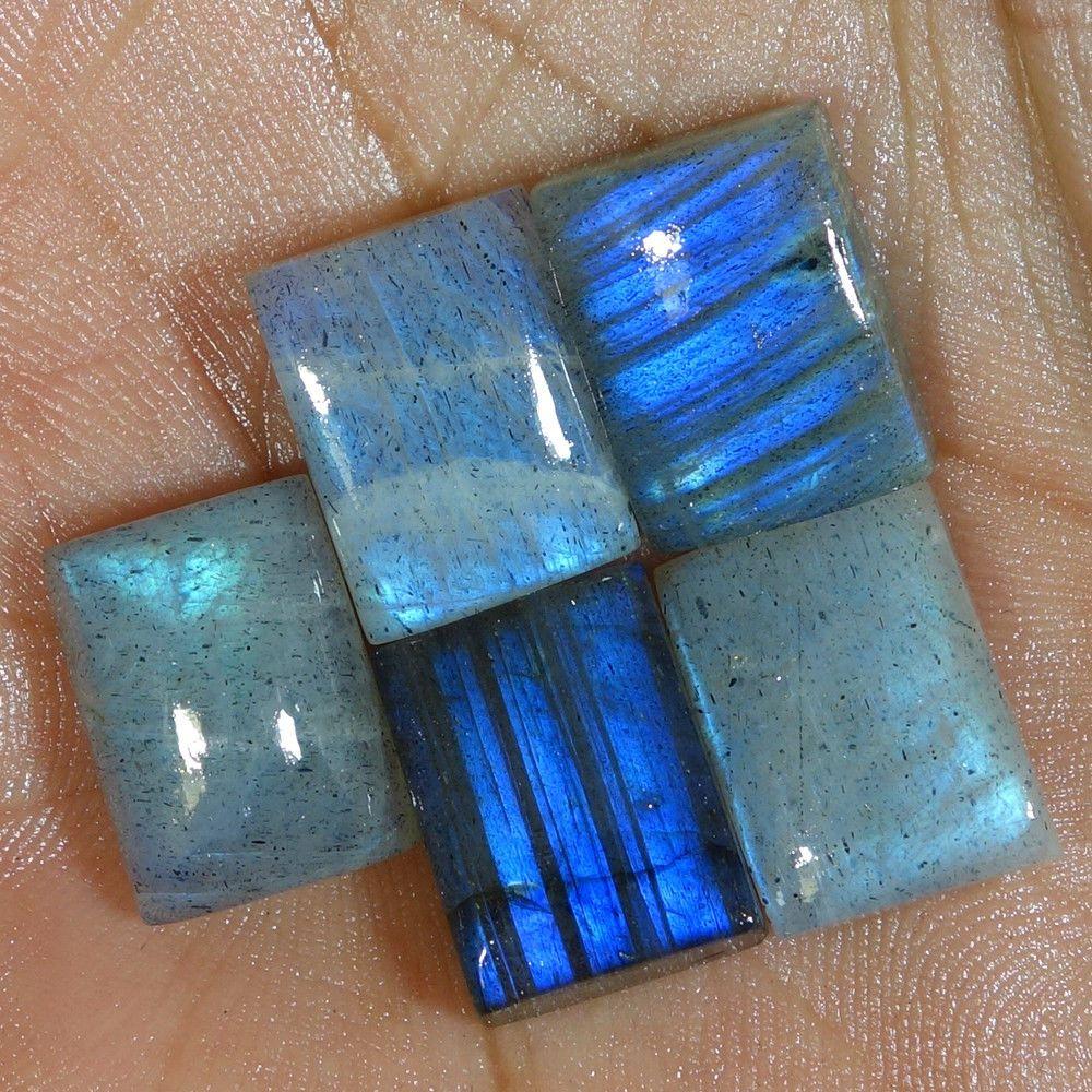 100/% Natural Labradorite Cabochon Cushion Shape Loose Gemstone Multi Fire Labradorite Jewellery Making 55 Ct 30x26x7 MM