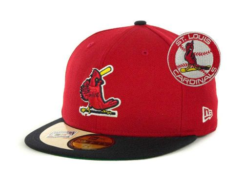 buy popular aee2a d4599 St. Louis Cardinals New Era MLB Cooperstown Patch 59FIFTY Cap Hats