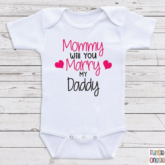 """Cute Proposal Baby Clothes """"Will You Marry Me"""" Baby"""
