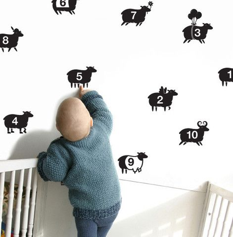 Counting Sheep Wall Decal | littles | Pinterest | Wall ...