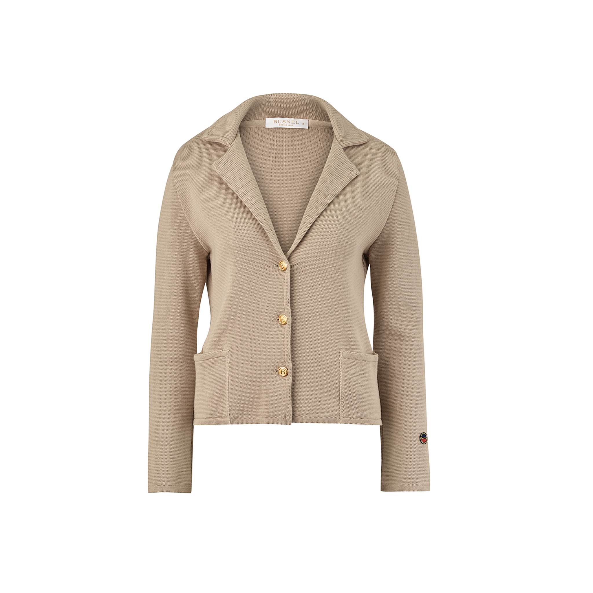 Ava Jacket sandstone from the Spring/Summer 17 collection. Find it here: https://www.busnel.com/collections/coats-jackets/products/ava-jacket-sandstone