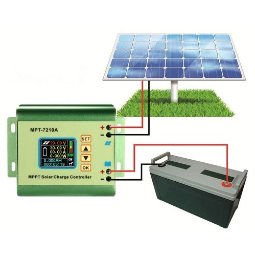 Mppt Solar Panel Battery Regulator Charge Controller With Lcd Color Display 24 36 48 60 72v 10a Compatible Dc Solar Panel Battery Roof Solar Panel Solar Panels