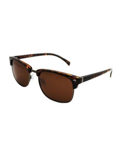b698114df82fb ALFRED SUNG Polarized Clubmaster Sunglasses - TORTOISE - Fashion Deals