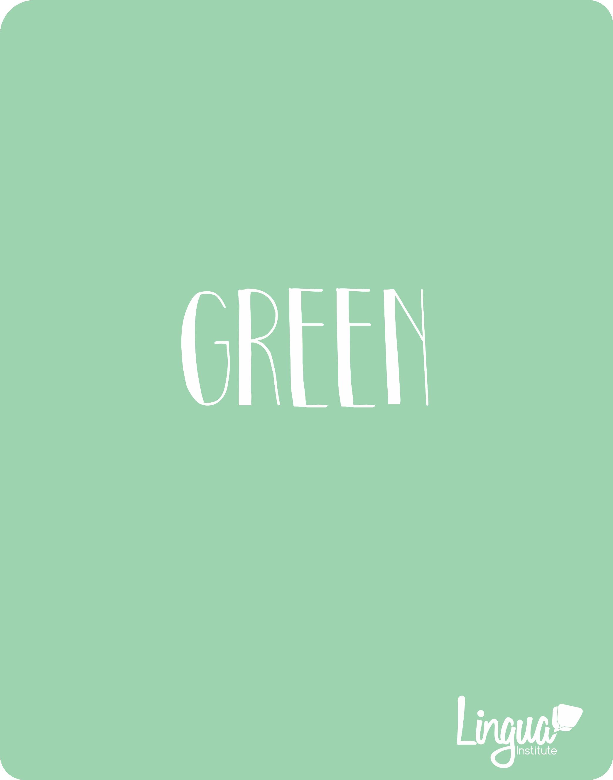 Verde/ Green - Los colores en Inglés/ The colors in ...