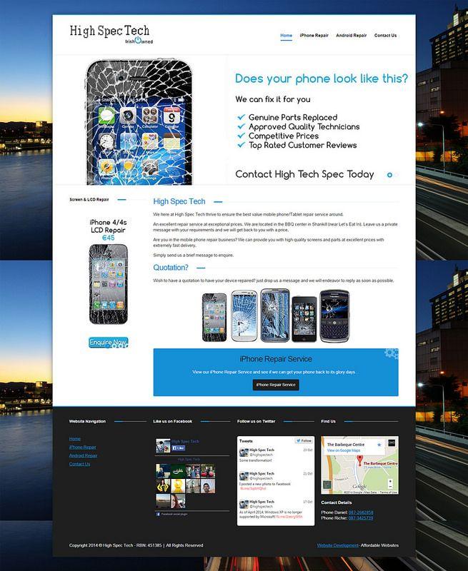 High Spec Tech Web Design Affordable Websites Design