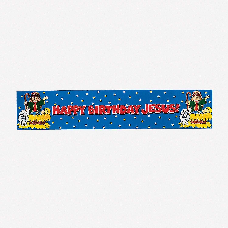 """Happy Birthday Jesus"" Metallic Banner Discontinued"