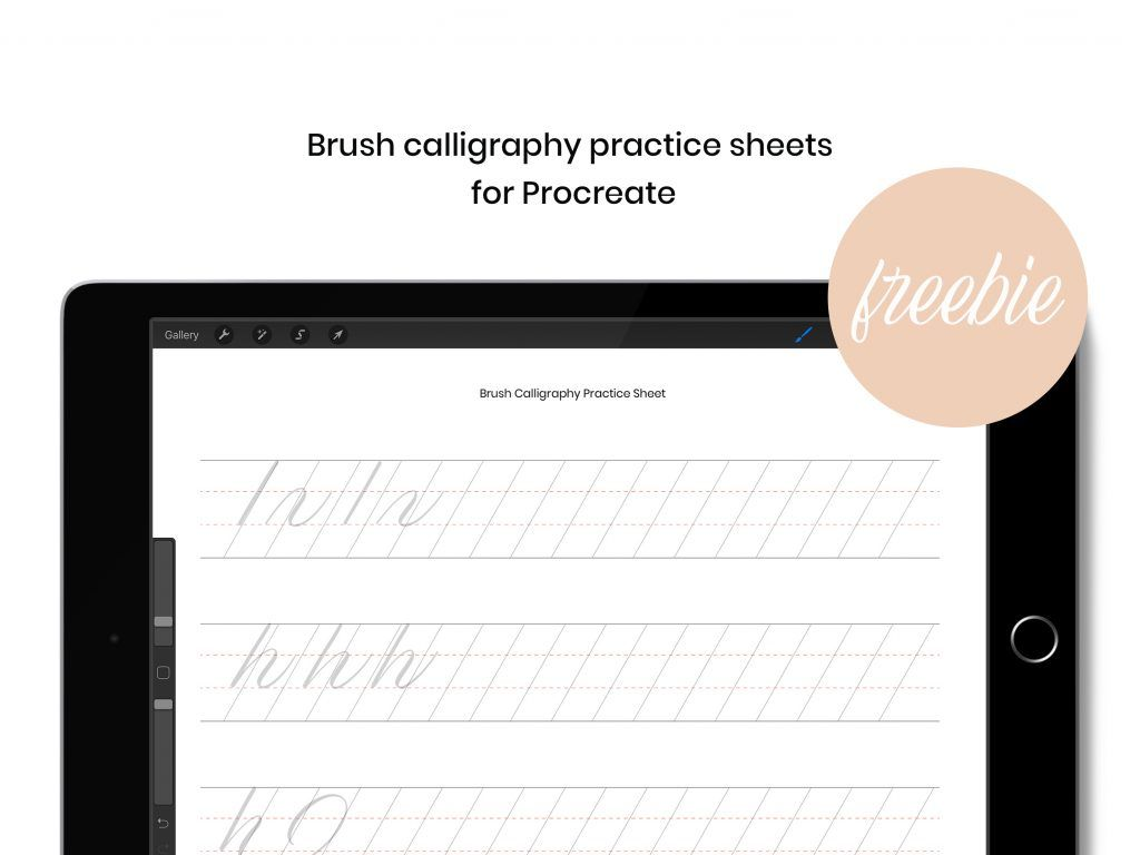 Brush Calligraphy Practice Sheet Freebie