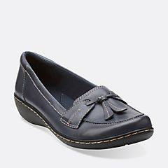 leather clarks ladies slippers