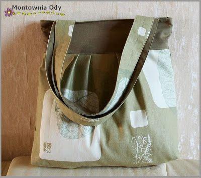 Pleated Tote Bag - tutorial step by step