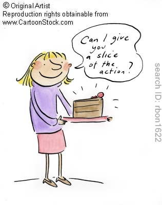 Can I give you a slice of the action? by Brooks, Rosie