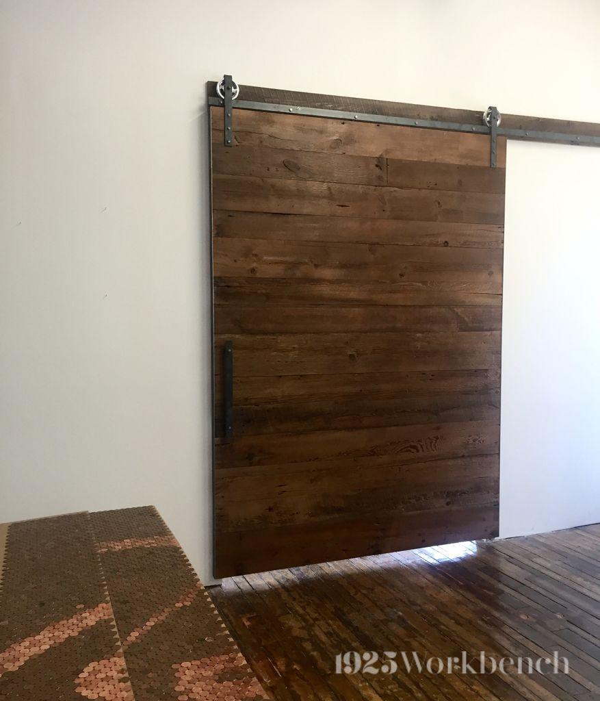 Large Barn Door Made Of Barn Wood With Custom Barn Door Hardware For