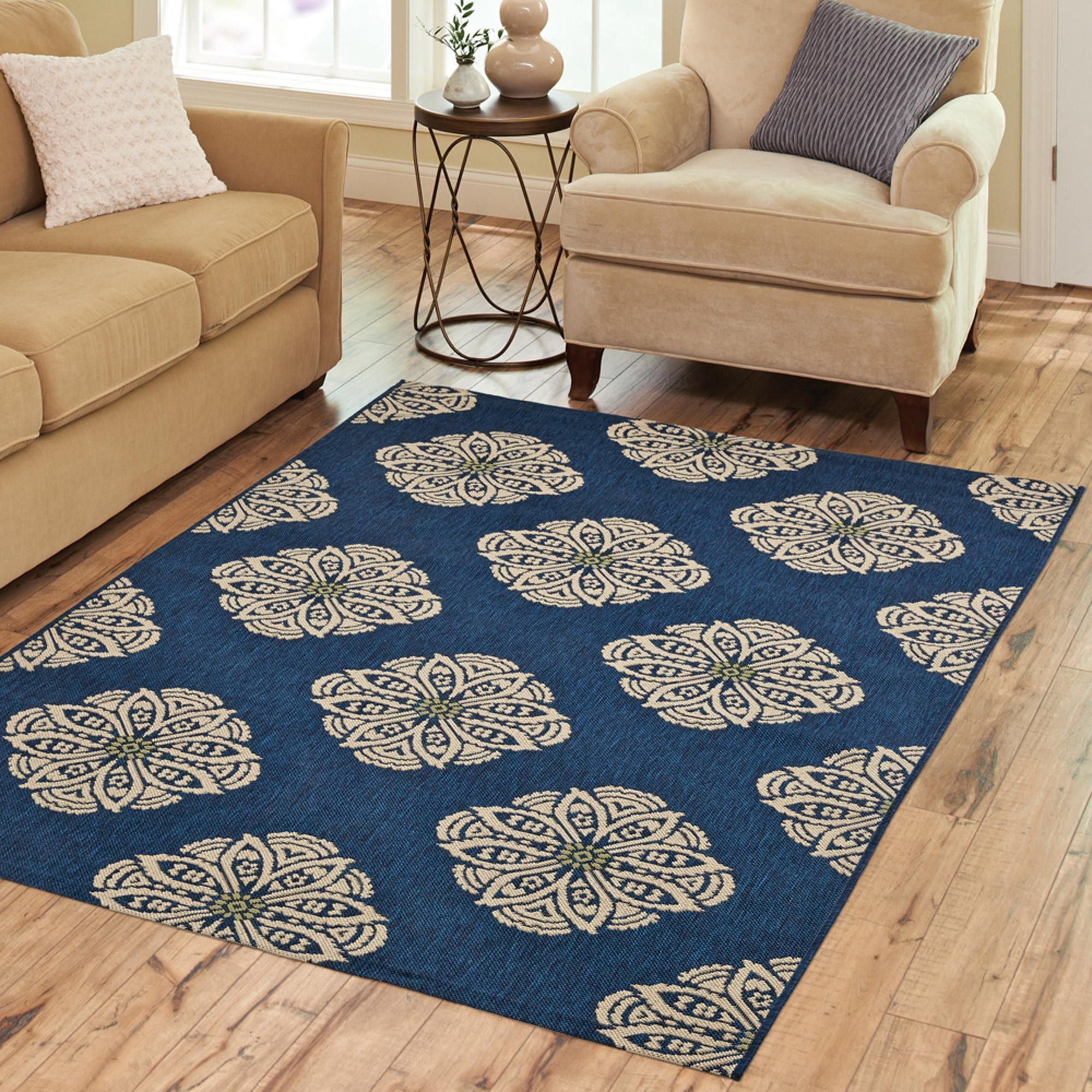 7X7 Area Rugs For Dining Room Polypropylene Rugs With Brown Sofa And Large Windows For Family