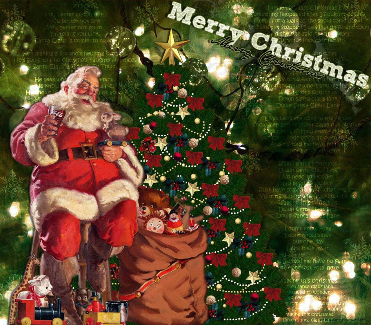 Merry Christmas Images Santa Claus With Gifts