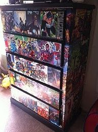 Marvel Comics Decoupage Chest Of Drawers Boys Bedroom
