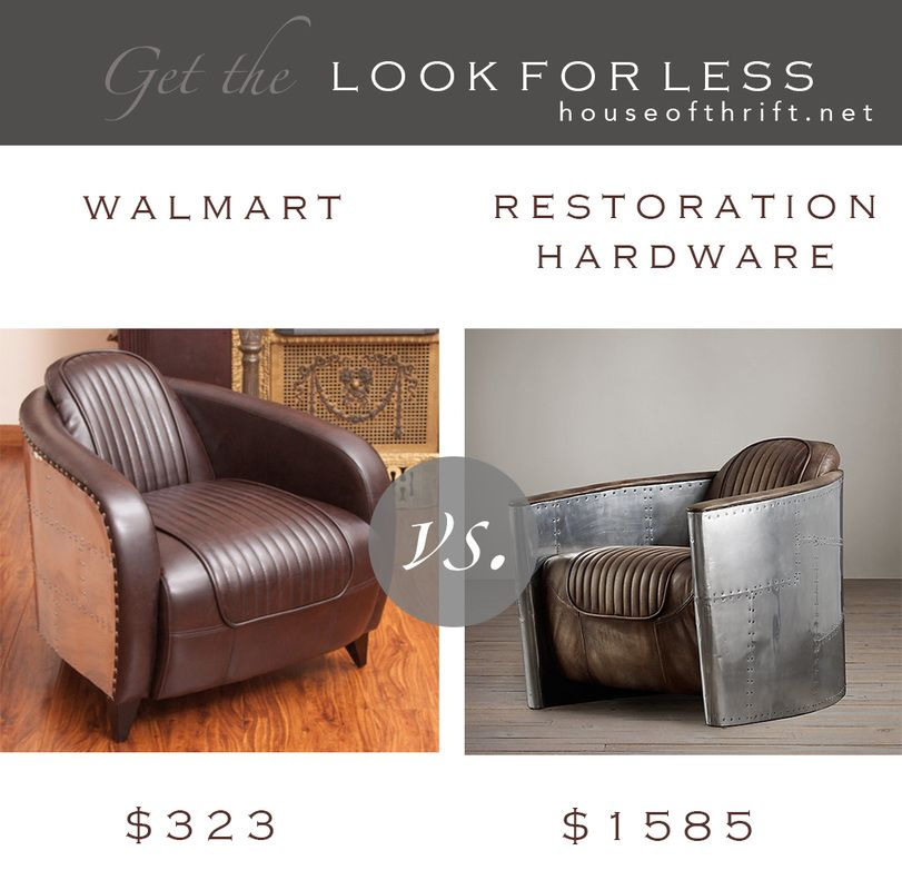 Vs Restoration Hardware Aviator Chair Look At The