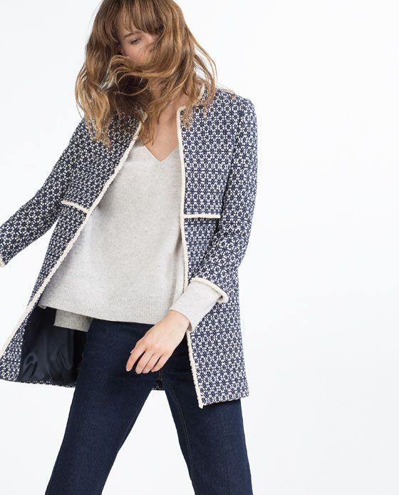 Image 2 of PRINTED COAT from Zara