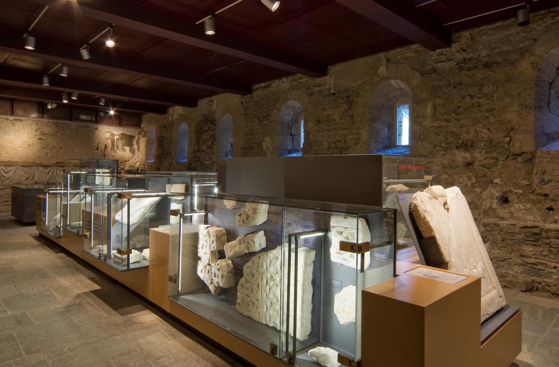 Allestimento del museo dell'abbazia di Novalesa, Michele Bonino, Subhash Mukerjee, Francesco Santullo. © Beppe Giardino