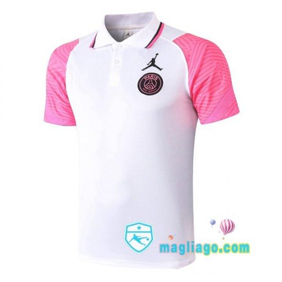 JORDAN Paris PSG Polo Maglia Uomo Bianco Rosa 2020/2021   Psg ...