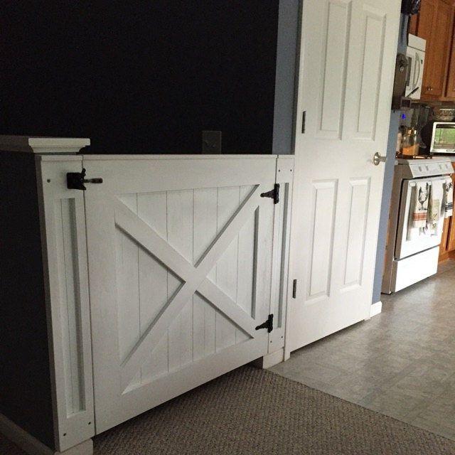 Rustic Dog/ Baby Gate Barn Door Style w/ side panels ...