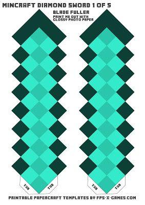 Minecraft Papiervorlage für den Schwert | Minecraft ... - photo#17