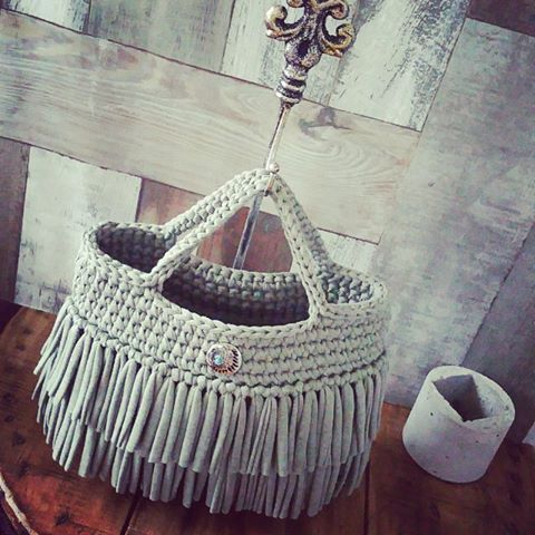 Pin von Cotton auf recycleyarn Bag | Pinterest | Tasche häkeln ...