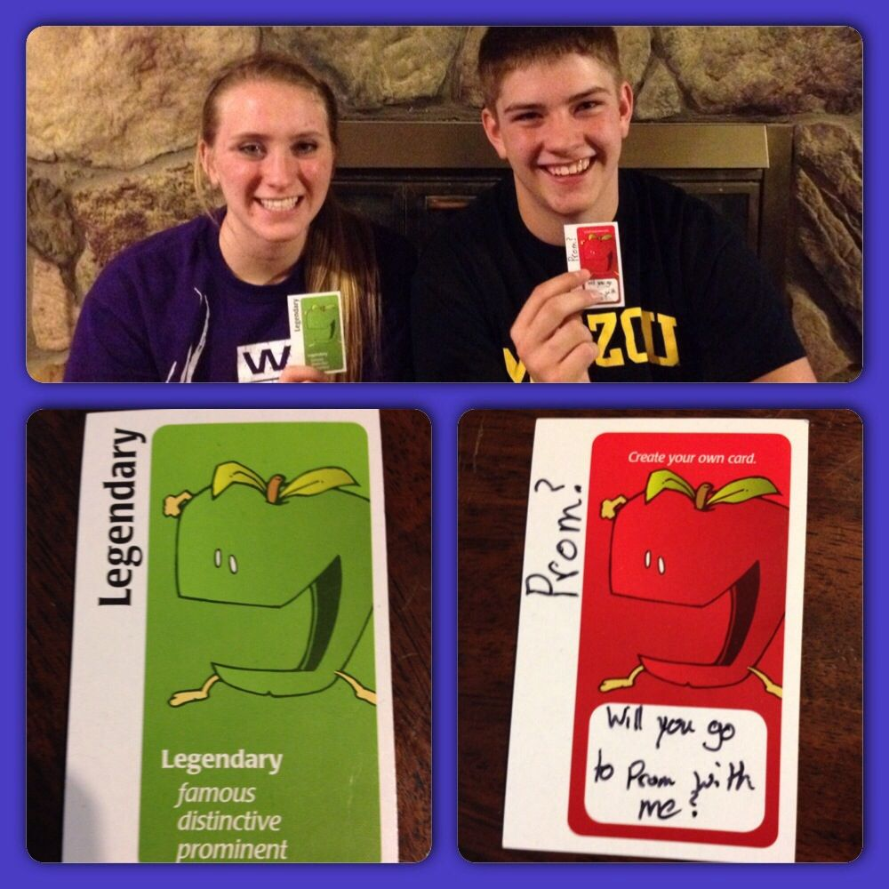 Great way for a guy to ask a girl to prom apple to apples