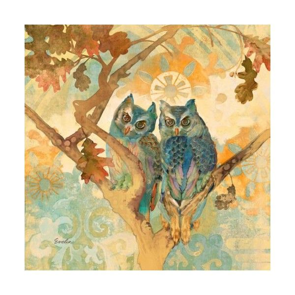 Marmont Hill Parish Owls Evelia Painting Print on Canvas 48 x 48 ...