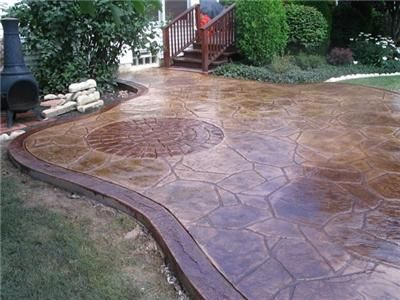 Elegant Concrete Patio Molds | Examples Of Concrete Stepping Stones Made With Cement  Molds | Patio Pavers U0026 Design | Pinterest | Concrete Patios, Patios And  Cement