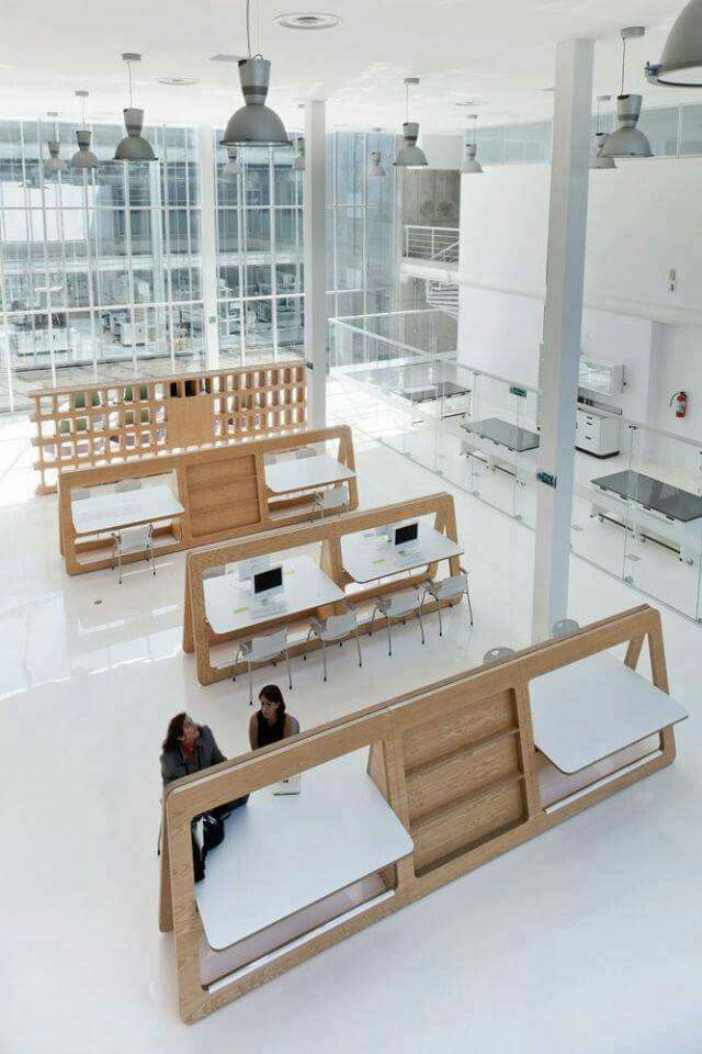 Modular desk furniture and sculpture pinterest for Open space interior design