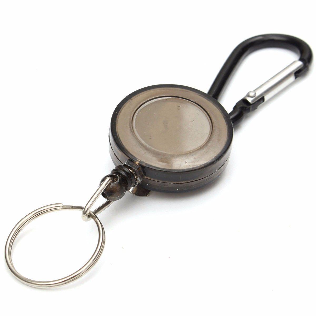 Badge Reel Retractable Recoil Yoyo Pass Id Card Holder Key Chain Steel Cord