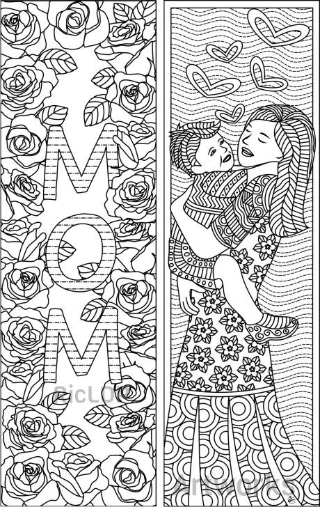 Printable MotherS Day Coloring Bookmarks Coloringbookmarks