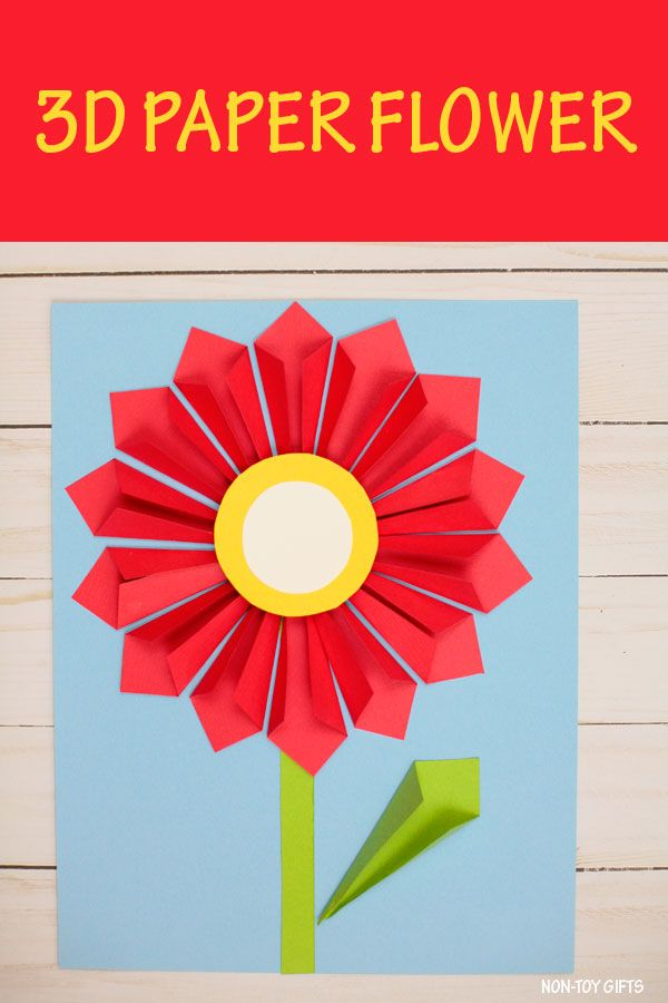 3d Paper Flower Craft For Mother S Day Kinder Abc
