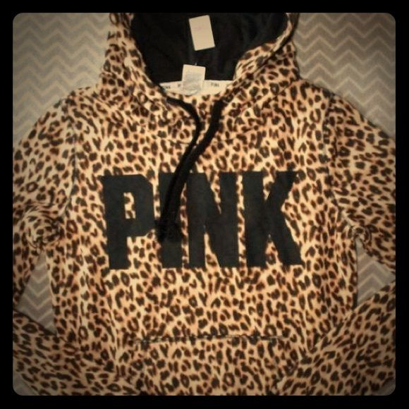 All over cheetah Brand new with tags size Xs PINK Victoria's Secret Sweaters Cowl & Turtlenecks