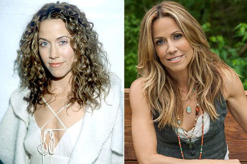 Sheryl Crow (left, in 1998; right, in...